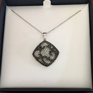 "Sterling Silver CZ pendant on 16"" chain"